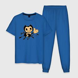 Пижама хлопковая мужская Bendy And The Ink Machine цвета синий — фото 1