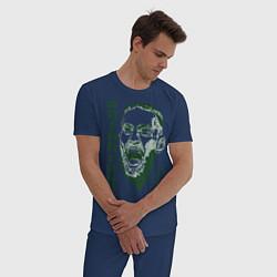 Пижама хлопковая мужская Конор МакГрегор цвета тёмно-синий — фото 2