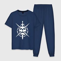Пижама хлопковая мужская DESTINY 2 цвета тёмно-синий — фото 1