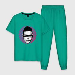 Пижама хлопковая мужская Mr Robot цвета зеленый — фото 1