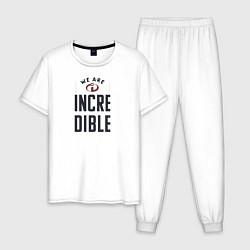 Пижама хлопковая мужская The Incredibles цвета белый — фото 1