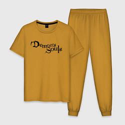 Пижама хлопковая мужская Demons Souls цвета горчичный — фото 1
