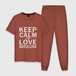 Пижама хлопковая мужская K C a Love Barcelona цвета кирпичный — фото 1