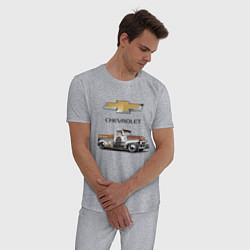 Пижама хлопковая мужская HOT ROD CHEVROLET цвета меланж — фото 2