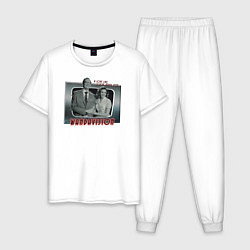 Пижама хлопковая мужская ВандаВижен цвета белый — фото 1