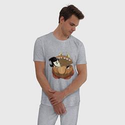 Пижама хлопковая мужская Dont Starve цвета меланж — фото 2