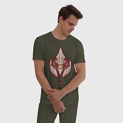 Пижама хлопковая мужская Санд Кинг Dota 2 цвета меланж-хаки — фото 2