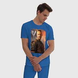 Пижама хлопковая мужская Викинги Бьёрн Vikings Bjorn Z цвета синий — фото 2