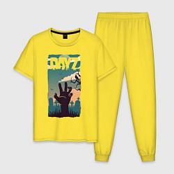 Пижама хлопковая мужская DAYZ ДЕЙЗИ Z цвета желтый — фото 1