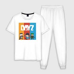Пижама хлопковая мужская DayZ ДэйЗи цвета белый — фото 1