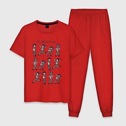 Пижама хлопковая мужская Its all about me цвета красный — фото 1