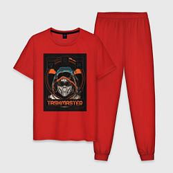 Пижама хлопковая мужская Taskmaster цвета красный — фото 1
