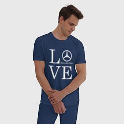 Пижама хлопковая мужская LOVE MERCEDES BENZ цвета тёмно-синий — фото 2