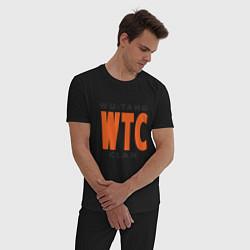 Пижама хлопковая мужская Wu-Tang WTC цвета черный — фото 2