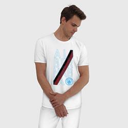 Пижама хлопковая мужская Manchester City True Classics 202122 цвета белый — фото 2