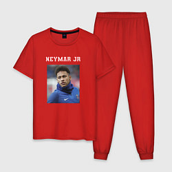 Пижама хлопковая мужская Неймар Neymar цвета красный — фото 1
