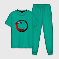 Пижама хлопковая мужская BURN ON FIRE FAR CRY 6 цвета зеленый — фото 1