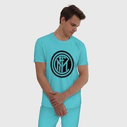 Пижама хлопковая мужская INTERNATIONAL INTER MILAN цвета бирюзовый — фото 2