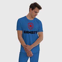 Пижама хлопковая мужская Gambit цвета синий — фото 2