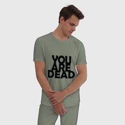 Пижама хлопковая мужская DayZ: You are Dead цвета авокадо — фото 2