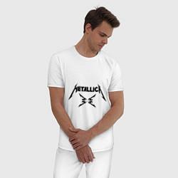 Пижама хлопковая мужская Metallica цвета белый — фото 2