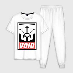 Пижама хлопковая мужская Faceless Void Poster цвета белый — фото 1