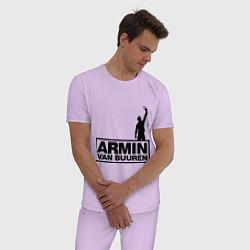 Пижама хлопковая мужская Armin van buuren цвета лаванда — фото 2