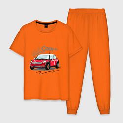Пижама хлопковая мужская Mini Cooper цвета оранжевый — фото 1