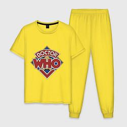 Пижама хлопковая мужская Doctor Who цвета желтый — фото 1
