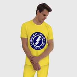 Пижама хлопковая мужская HC Tampa Bay Lightning цвета желтый — фото 2