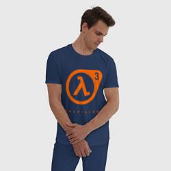 Пижама хлопковая мужская Half-Life 3 цвета тёмно-синий — фото 2