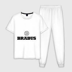 Пижама хлопковая мужская Brabus цвета белый — фото 1