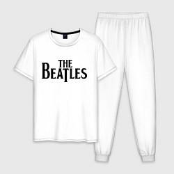 Пижама хлопковая мужская The Beatles цвета белый — фото 1