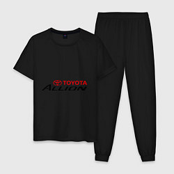 Пижама хлопковая мужская Toyota Allion цвета черный — фото 1