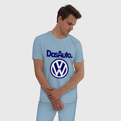 Пижама хлопковая мужская Volkswagen Das Auto цвета мягкое небо — фото 2
