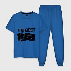 Пижама хлопковая мужская The best of 1969 цвета синий — фото 1