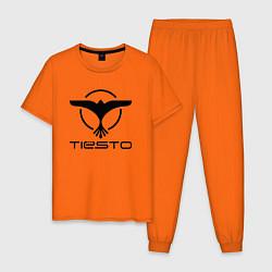 Пижама хлопковая мужская Tiesto цвета оранжевый — фото 1