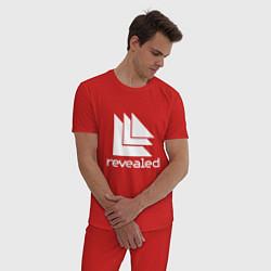 Пижама хлопковая мужская Revealed цвета красный — фото 2