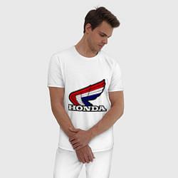 Пижама хлопковая мужская Honda цвета белый — фото 2