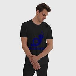 Пижама хлопковая мужская Subaru цвета черный — фото 2