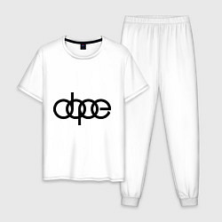 Пижама хлопковая мужская Audi dope цвета белый — фото 1