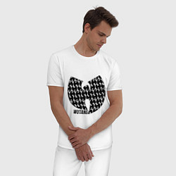 Пижама хлопковая мужская Wu-Tang Clan: Symbol цвета белый — фото 2