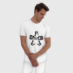 Пижама хлопковая мужская Anti-Flag цвета белый — фото 2