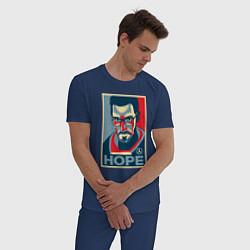 Пижама хлопковая мужская Half-Life: Hope цвета тёмно-синий — фото 2