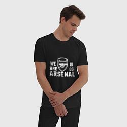 Пижама хлопковая мужская We are Arsenal 1886 цвета черный — фото 2