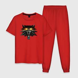 Пижама хлопковая мужская Witcher 3 Wild Hunt цвета красный — фото 1