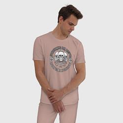 Пижама хлопковая мужская Правописание или смерть! цвета пыльно-розовый — фото 2