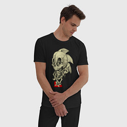 Пижама хлопковая мужская Sonic skeleton цвета черный — фото 2