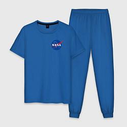 Пижама хлопковая мужская NASA цвета синий — фото 1