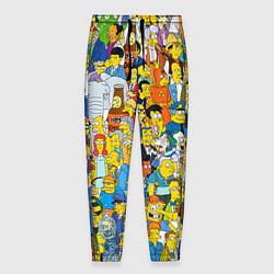 Брюки на резинке мужские Simpsons Stories цвета 3D-принт — фото 1